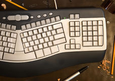 Computer keyboard with blank buttons Royalty Free Stock Photos