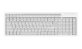 Computer Keyboard with blank buttons Stock Photos