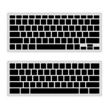 Computer Keyboard Blank Template Set. Vector Stock Photography
