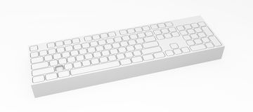 Computer Keyboard, Block. Computer Keyboard element abstract, 3d, over white Royalty Free Stock Images