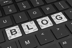 Computer Keyboard Blog Concept. Blog Word on Black Computer Keyboard Keys 3D Illustration Stock Photo