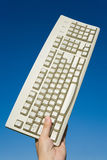Computer Keyboard and blue sky Stock Photography
