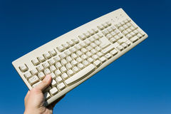 Computer Keyboard and blue sky Royalty Free Stock Image