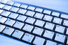 Computer Keyboard, Blue, Technology, Input Device Stock Images