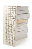 Computer keyboard and book Royalty Free Stock Image