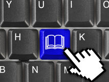 Computer keyboard with Book key Royalty Free Stock Photos