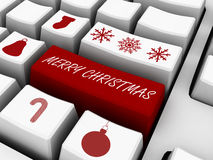 Computer Keyboard - Business Holiday Concept. Email Gifts Stock Photography