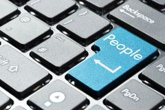 Computer keyboard button. Computer keyboard with people button Royalty Free Stock Photography