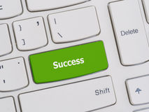 Computer keyboard button with success text Royalty Free Stock Images