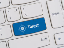 Computer keyboard button with target text Stock Photos