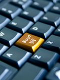 Computer keyboard with buy business key Royalty Free Stock Photography