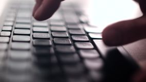 Computer Keyboard. The Camera Is In Motion - On Dolly stock video footage