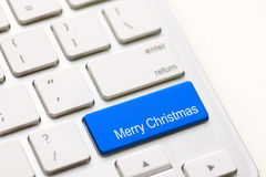 Computer keyboard with Christmas key Stock Photo