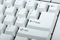 Computer keyboard close-up Stock Photo