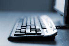 Computer keyboard close-up Royalty Free Stock Images
