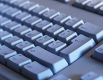 Computer keyboard close-up Stock Image