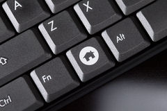 Computer keyboard close-up with home button Royalty Free Stock Photo