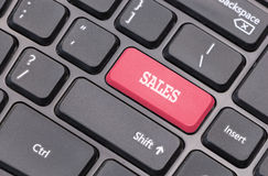 Computer keyboard closeup with Sale text Royalty Free Stock Images