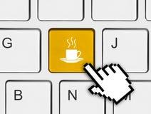 Computer keyboard with coffee key Stock Photos