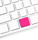 Computer keyboard with colored blank keys for your own idea. Whi Stock Photography