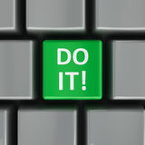 Computer keyboard do it Royalty Free Stock Images