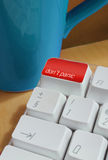 A computer keyboard - dont panic button Stock Image
