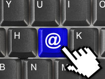 Computer keyboard with e-mail key Stock Photo