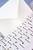 Computer keyboard and envelope. E-mail. Royalty Free Stock Photos