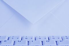 Computer keyboard and envelope. E-mail. Royalty Free Stock Photography