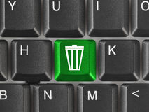 Computer keyboard with garbage key Stock Image
