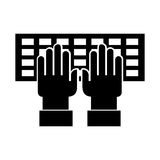 Computer keyboard with hands user. Vector illustration design Royalty Free Stock Image