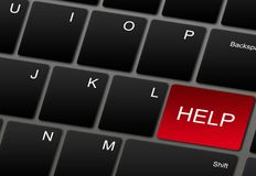 Computer keyboard with help button Stock Image