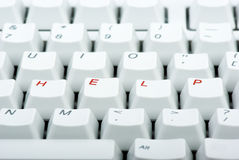 Computer keyboard with 'HELP' keys. Computer keyboard with red 'HELP' keys Royalty Free Stock Images