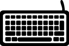 Computer Keyboard icon. Digital vector stock illustration