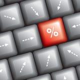 Computer keyboard idea Royalty Free Stock Image