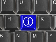 Computer keyboard with information key Stock Photography
