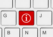 Computer keyboard with information key Royalty Free Stock Images
