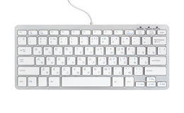 Computer keyboard isolated on. White background Stock Photos