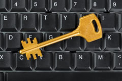 Computer keyboard and key Stock Photo