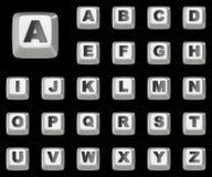 Computer keyboard key FONT 3D Stock Image