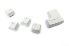 Computer keyboard keys Royalty Free Stock Image