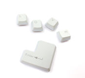 Computer keyboard keys Stock Images