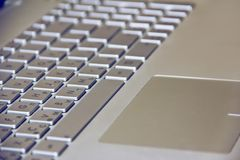 Computer keyboard with keys and letters royalty free stock photo