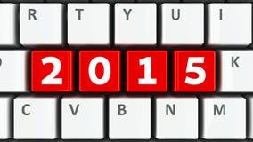 Computer keyboard 2015 Stock Photo
