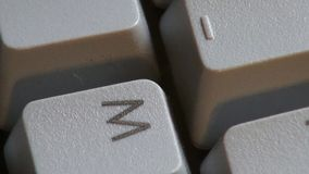 Computer Keyboard, Keys, Typing stock video footage