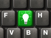 Computer keyboard with lamp key Stock Images
