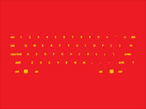 Computer keyboard layout Royalty Free Stock Images