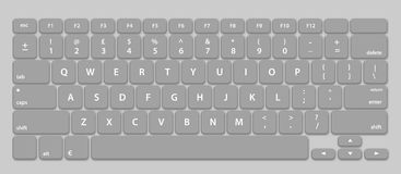 Computer Keyboard Layout Stock Photo