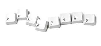 Computer keyboard letters Royalty Free Stock Images