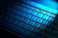 Computer keyboard with light Stock Photography